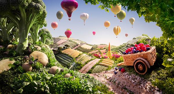 Carl Warner paisajes con alimentos